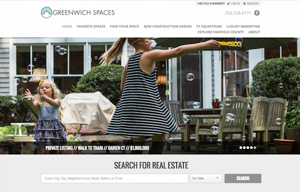Placester real estate website Greenwich Spaces