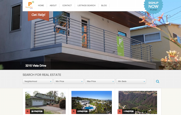 Placester real estate website Pier to Pier Brokers