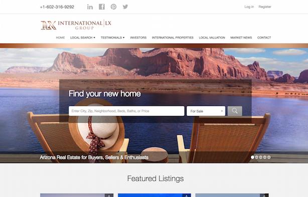 Placester real estate website International LX Group