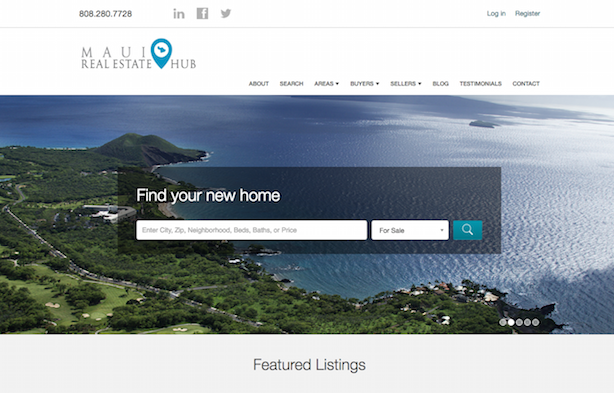 Placester real estate website Maui Real Estate Hub