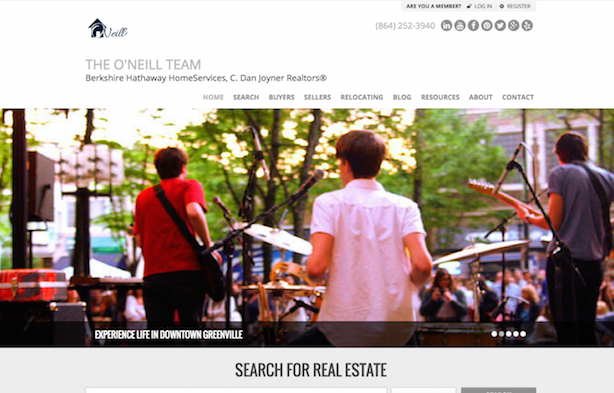 Placester real estate website O'Neill Realty