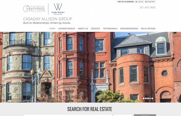 Placester real estate website Casaday Allison