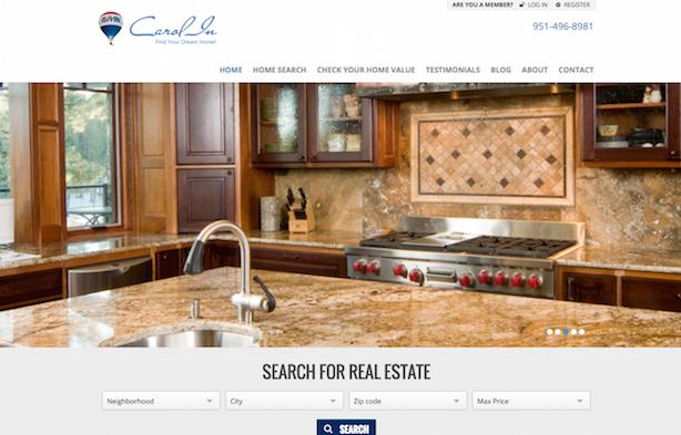 Placester real estate website Carol In REMAX