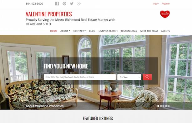 Placester real estate website Valentine Properties