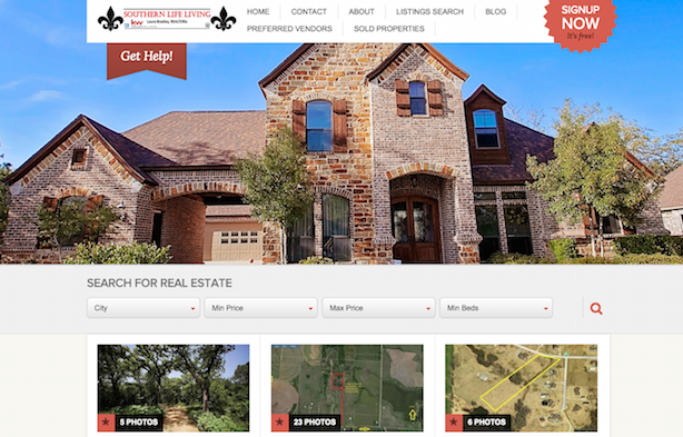 Placester real estate website Southern Life Living