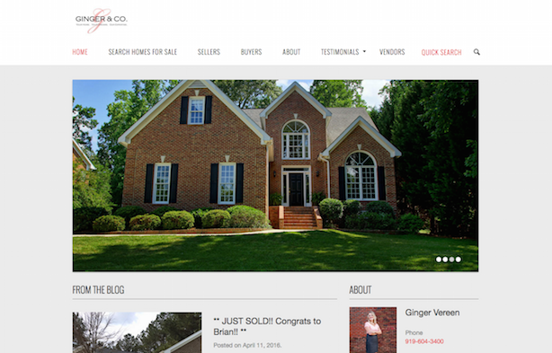 Placester real estate website Ginger and Co