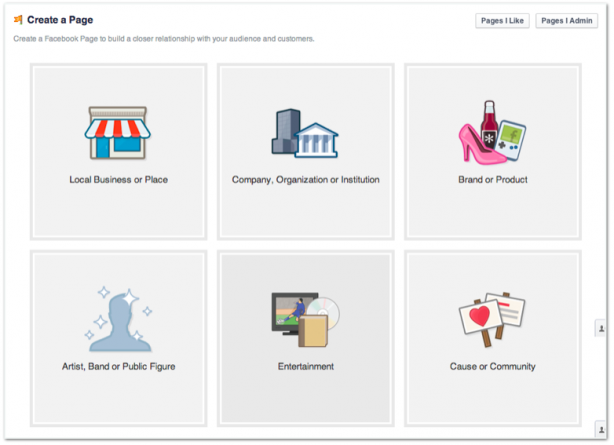 Facebook create business page profile