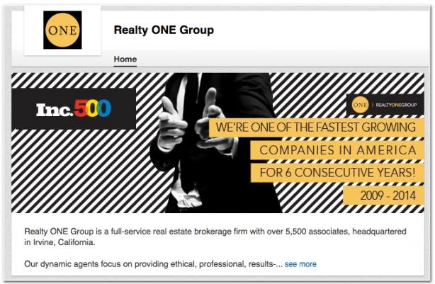 Realty One Group LinkedIn profile real estate