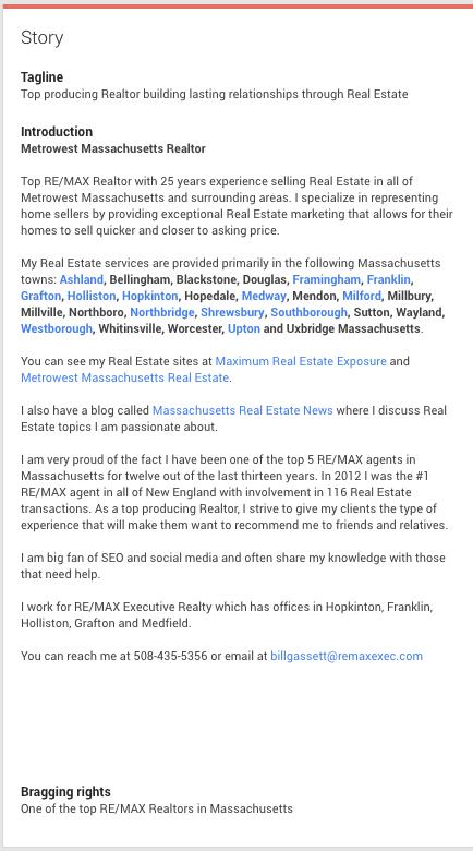 Bill Gasset Google Plus Bio