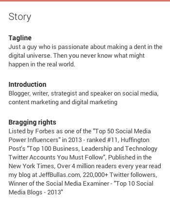 Jeff Bullas Google Plus Bio