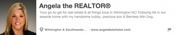 Angela Batchelor Pinterest Bio
