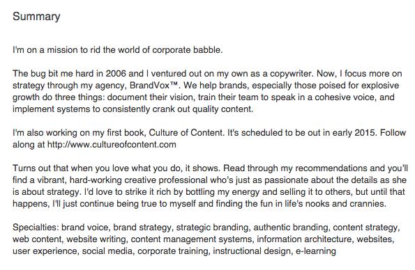 Andrew Goulet Ford LinkedIn Bio