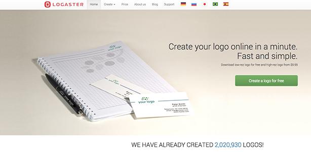 graphic design tools Logaster
