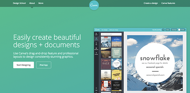graphic design tools Canva