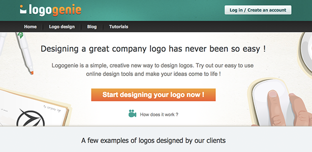 graphic design tools Logogenie