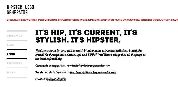 graphic design tools Hipster Logo Generator
