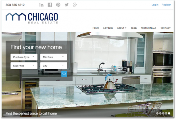 Placester real estate website optimization ideas homepage