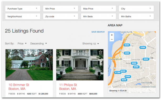 Placester real estate website optimization ideas listings page