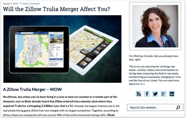 Melissa Zavala broker real estate blog Zillow Trulia