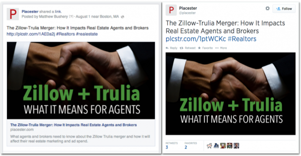 Placester Zillow Trulia Twitter Facebook promotion blog post