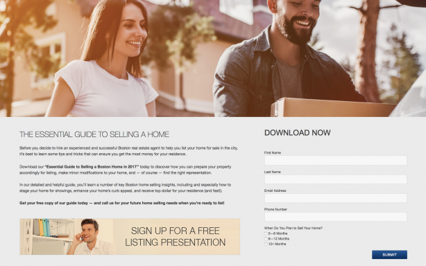 Placester website lead capture pages