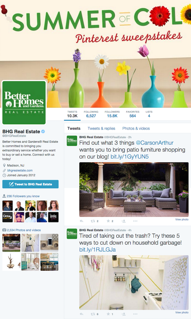 Better Homes and Gardens Real Estate social media images