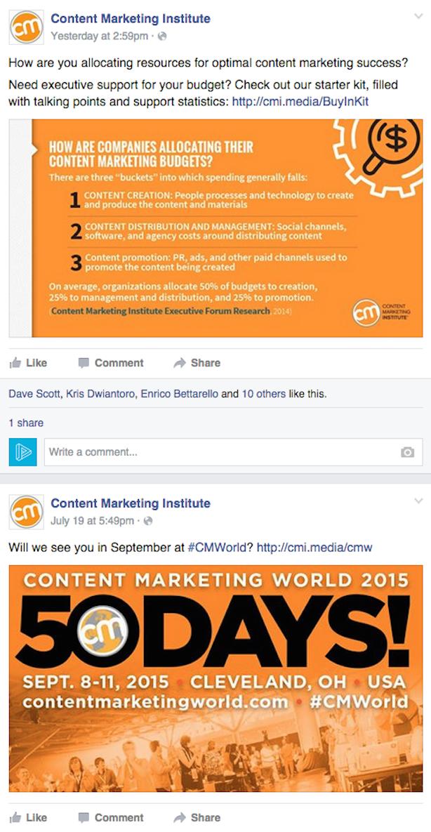 Content Marketing Institute social media images
