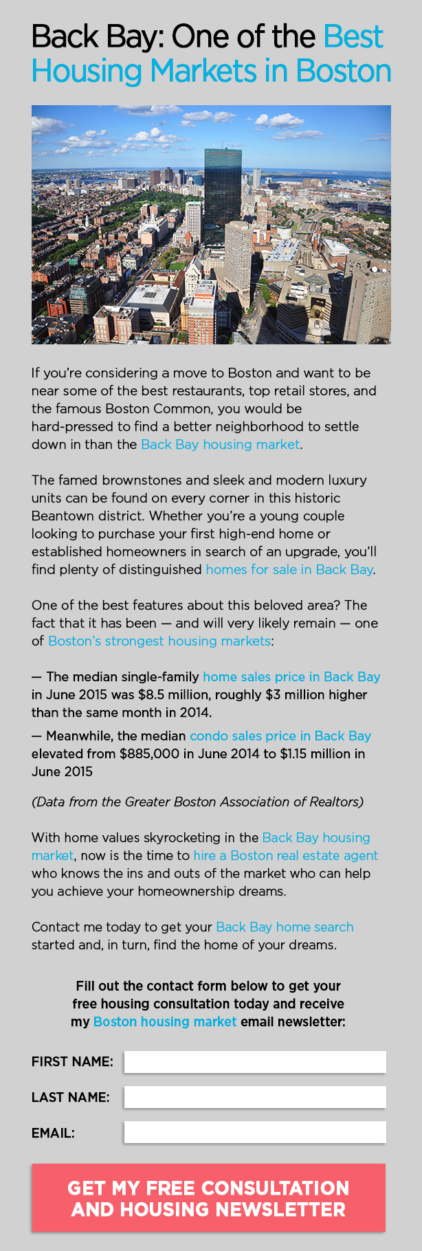 real estate area page