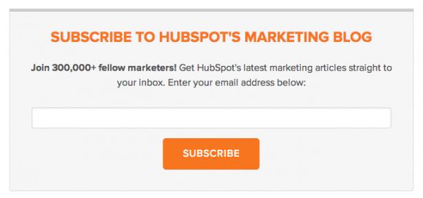 Hubspot email optin