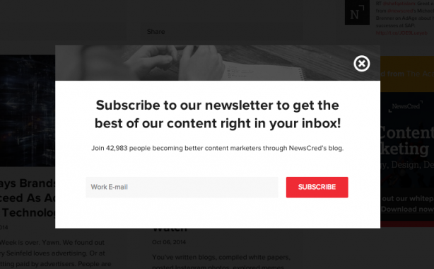 Newscred popup