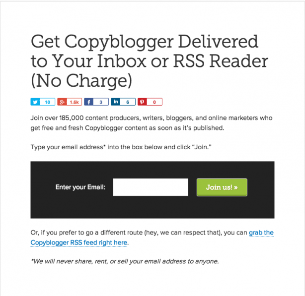copyblogger landing