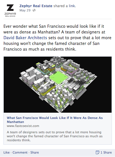 Zephyr Real Estate Facebook page