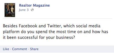 Realtor Magazine Facebook page