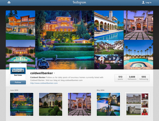 Coldwell Banker's Instagram profile