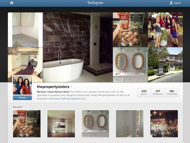 Instagram profile of Marilynn Taylor and Allison Allain