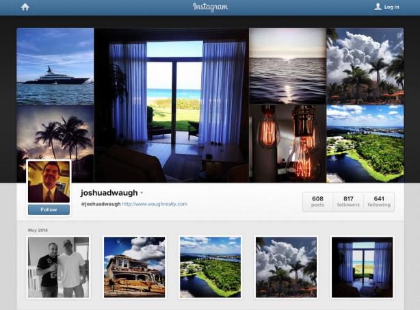 Joshua Waugh's Instagram profile