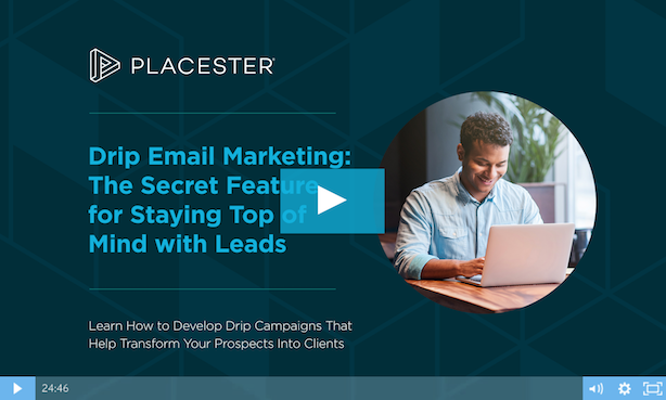 drip real estate email marketing strategy Placester webinar