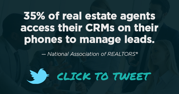 real estate CRM lead assignment statistic