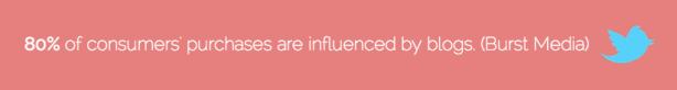 Consumer purchases influenced blogs Burst Media
