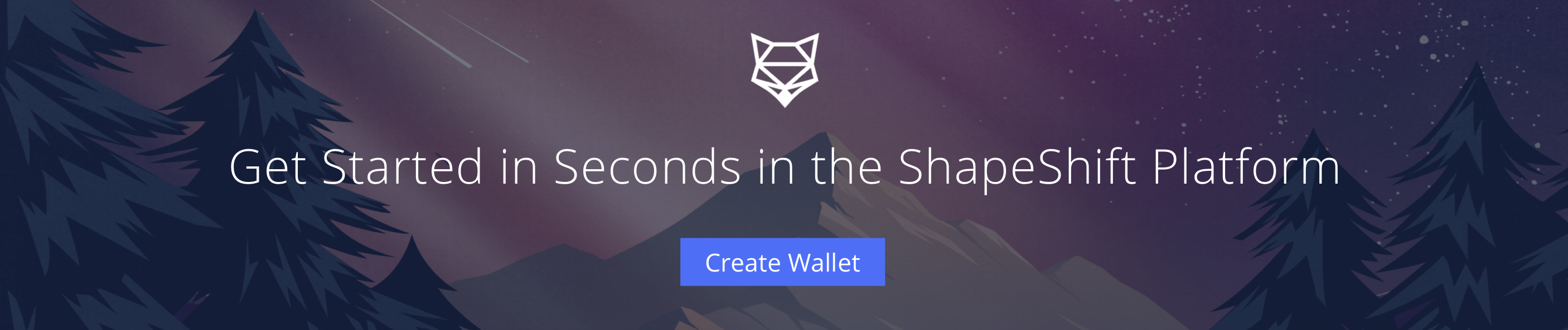 Get started in seconds with a new wallet in the ShapeShift Platform.