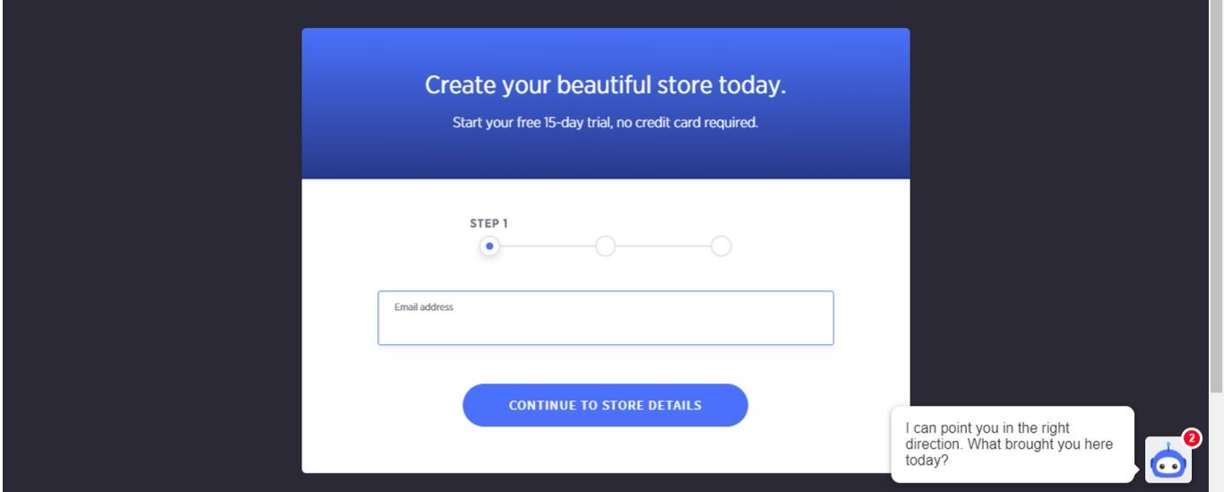 Fill out the information needed to create your new store