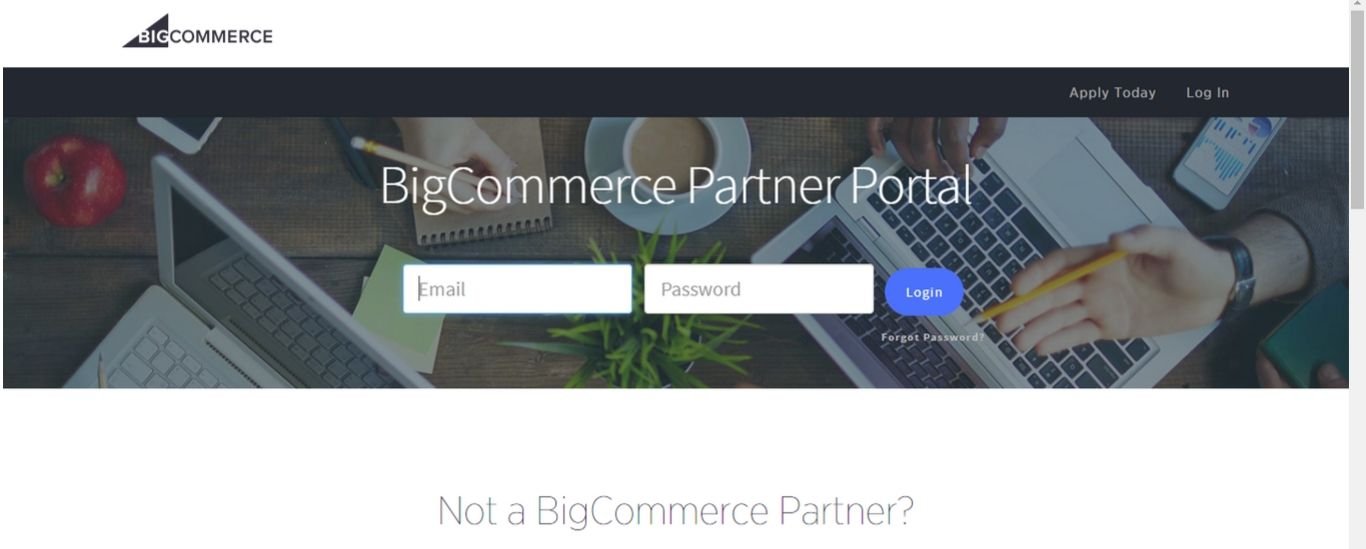 Sign in to the BigCommerce Partner Portal