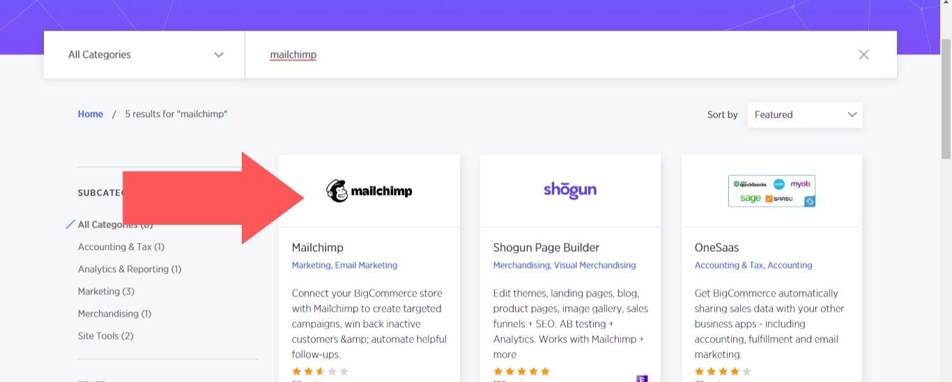 BigCommerce marketplace