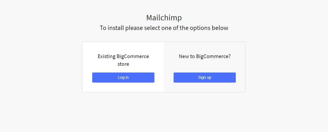 """Select """"Log In"""" and enter your BigCommerce login credentials again"""