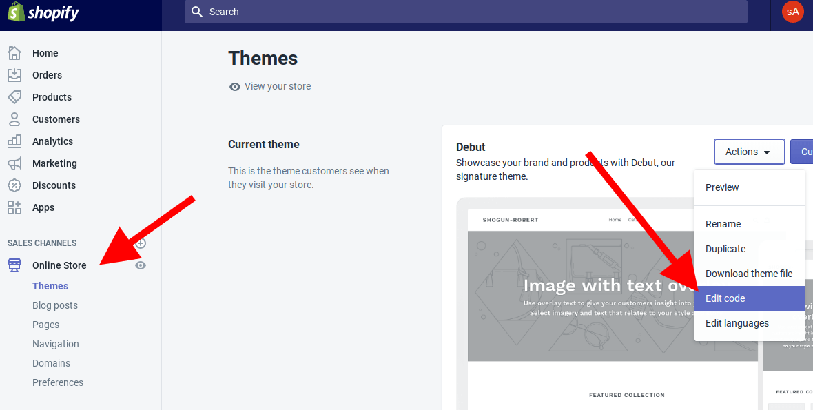 Locate the code to edit in your theme