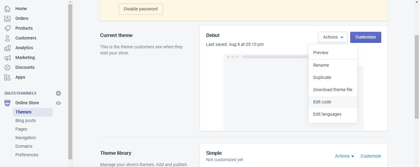 """Select """"Edit Code"""""""