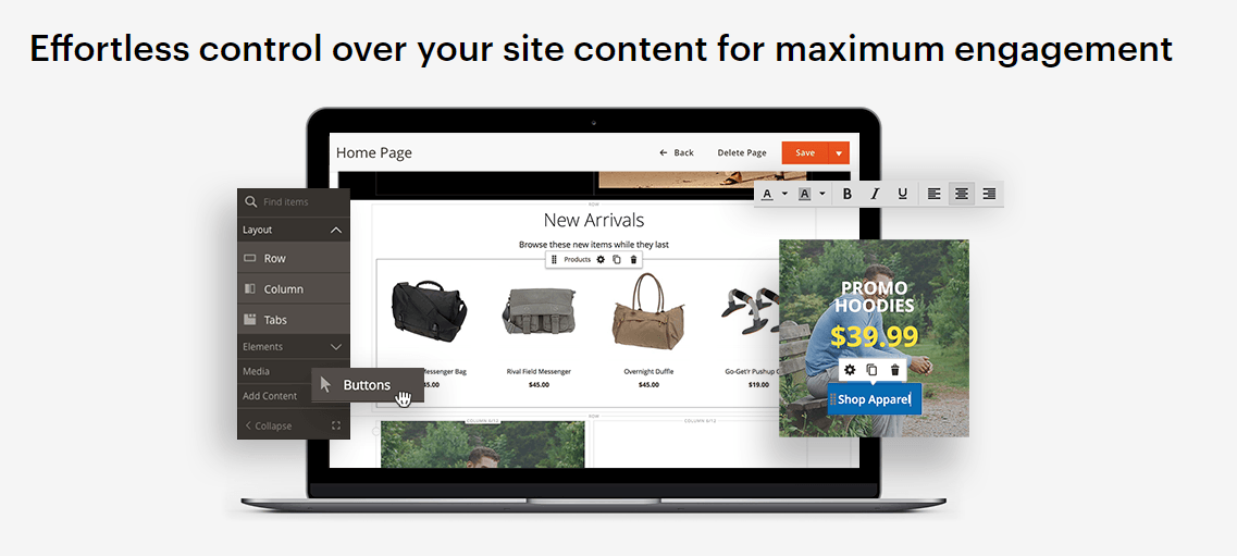Magento page builder