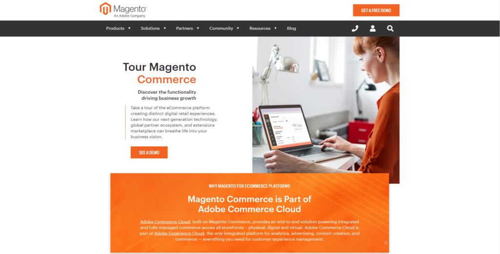 Magento Commerce Screenshot
