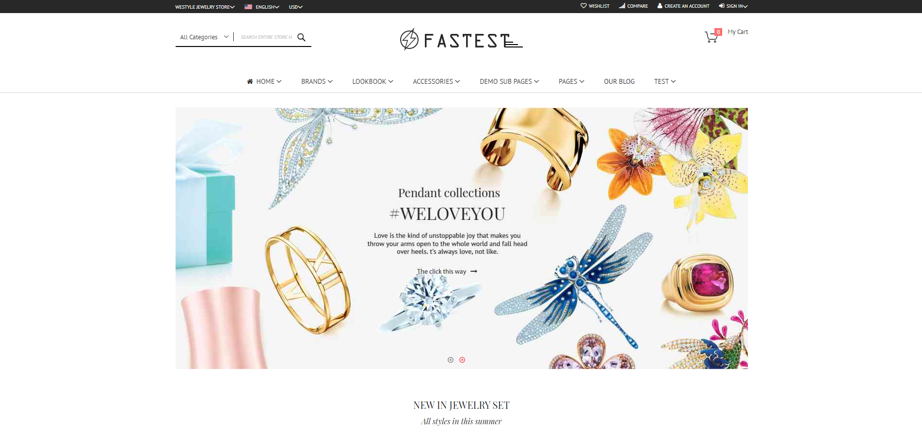 fastest theme homepage