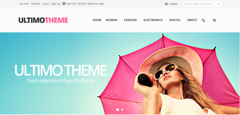 Ultimo theme homepage